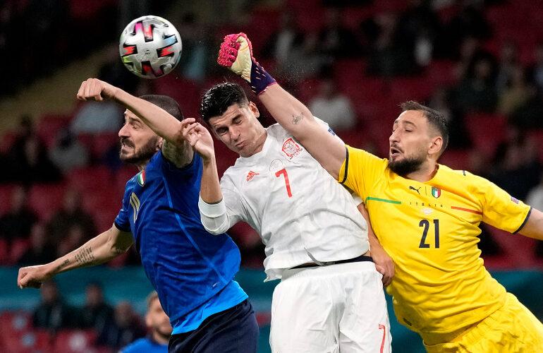 Italijos ir Ispanijos kovos akimirka