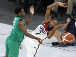 JAV krepšinio rinktinė sensacingai pralaimėjo prieš Nigeriją