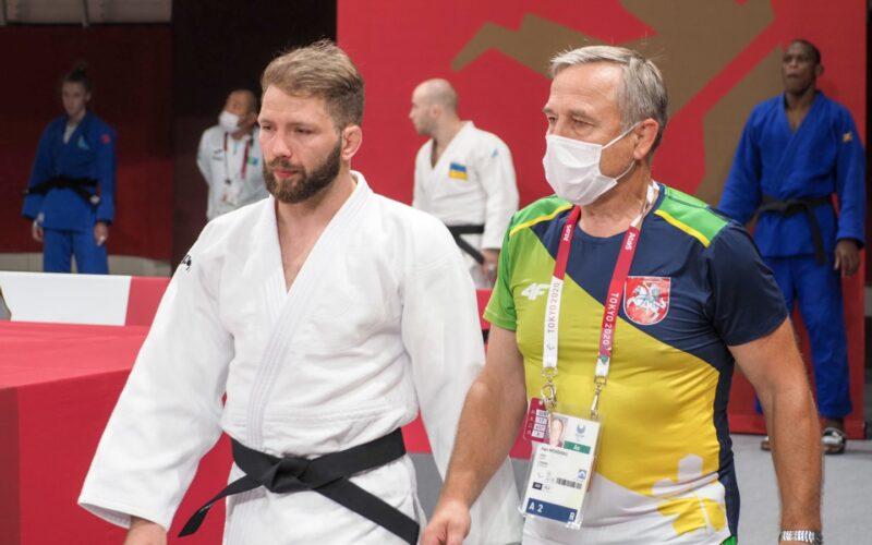 O. Bareikis ir jo treneris Algis Mečkovskis