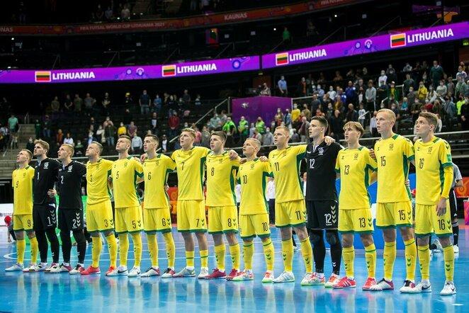 Lietuva baigė savo pasirodymą salės futbolo čempionate