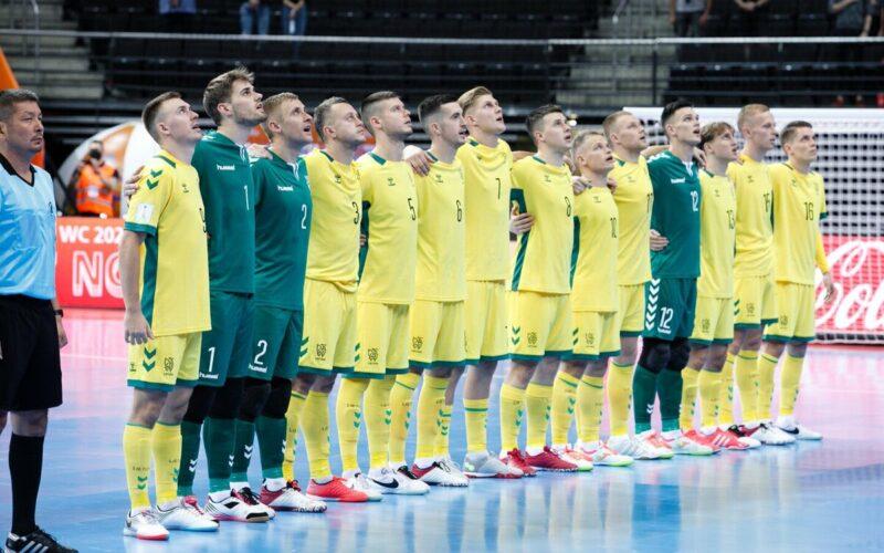 Lietuviai salės psaulio futbolo čempionatą pradėjo nesėkme
