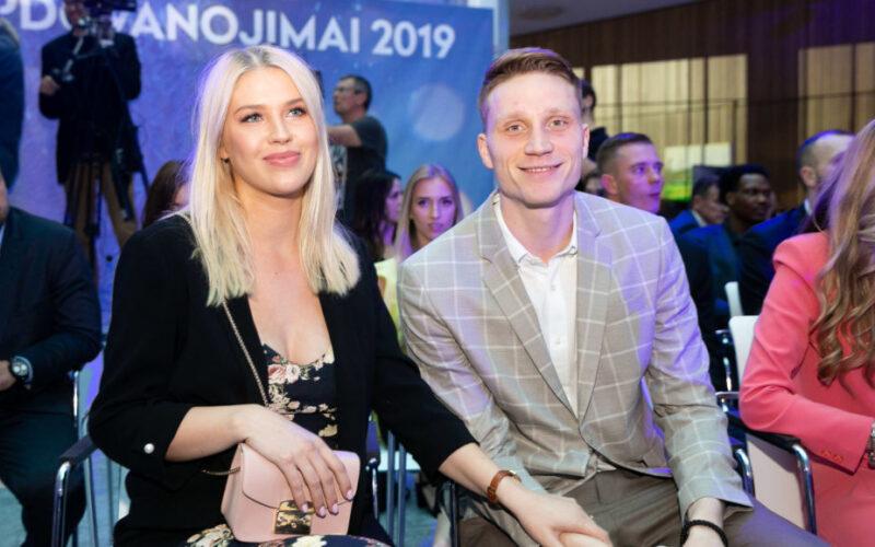 M. Grigonis su žmona Salomėja